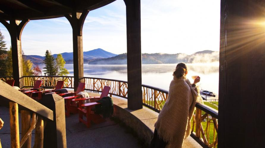 Enjoy lakeside lounging