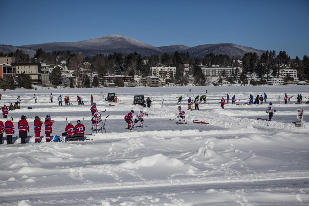 Can/Am Adult Pond Hockey in Lake Placid