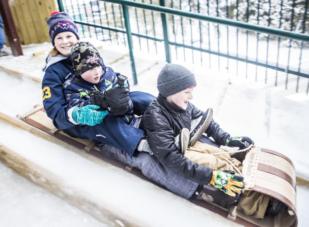 Kids love sledding!