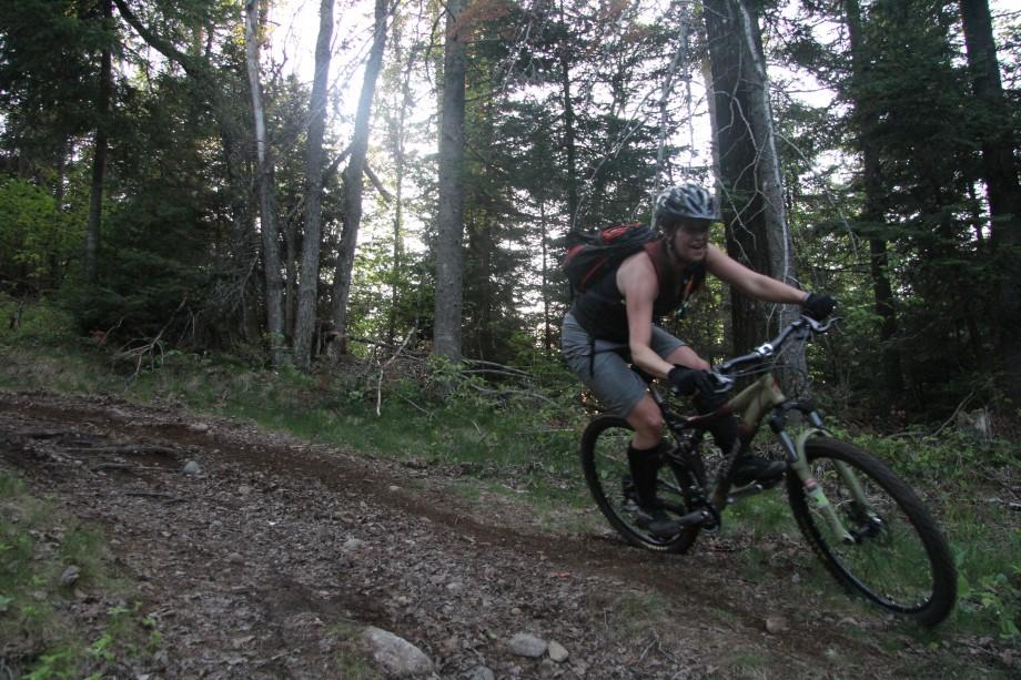 A rider on the Jackrabbit Trail
