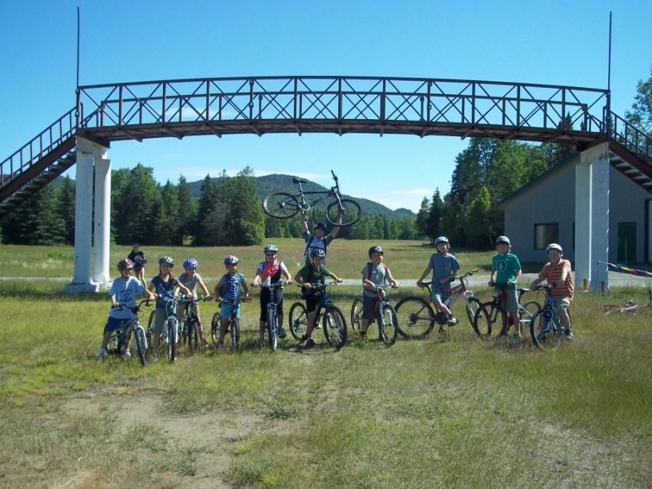Riders pose for a photo at the Mt. Bike Center