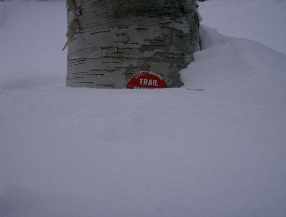 Snow can get very deep overnight