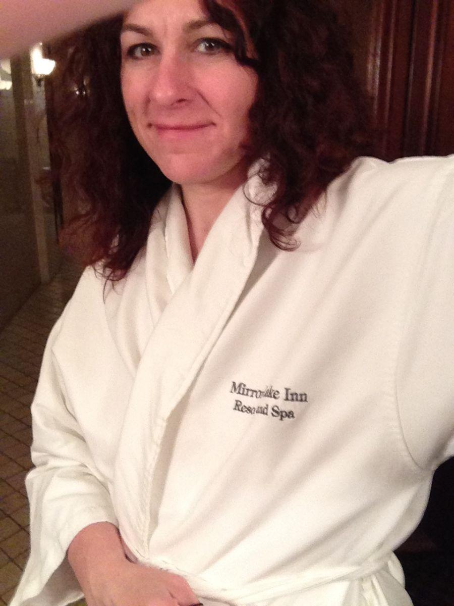 Robe - check! Relaxation - check! Mud - ready, willing, and still a bit apprehensive.