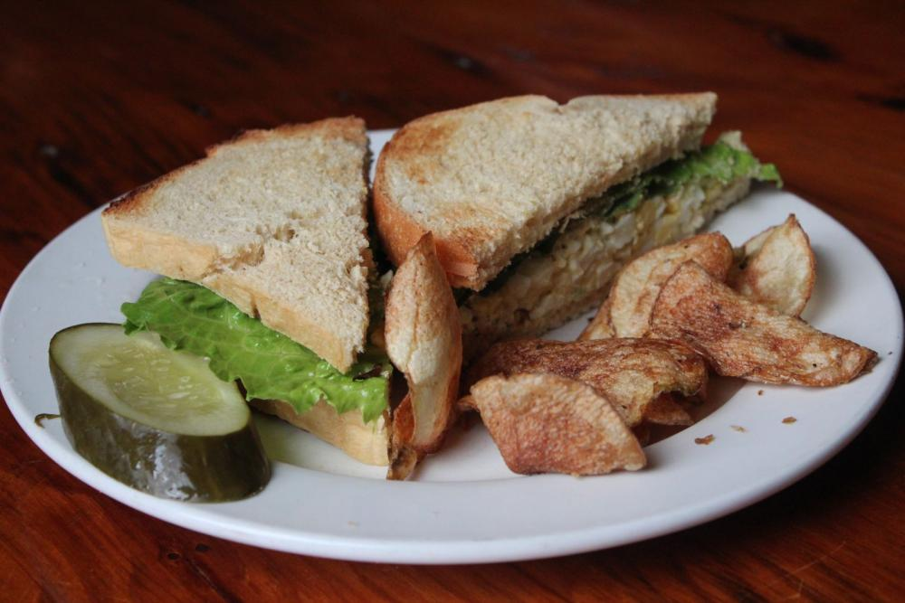 An ADK Cafe egg salad sandwich.