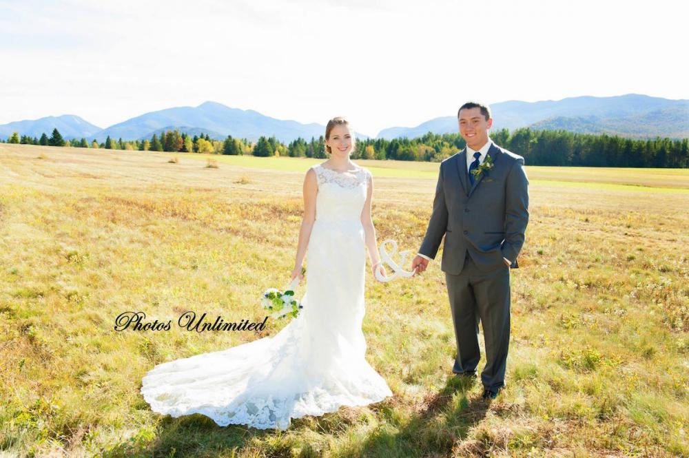 Perfect weather and High Peaks as a backdrop made this fall wedding a stunner!