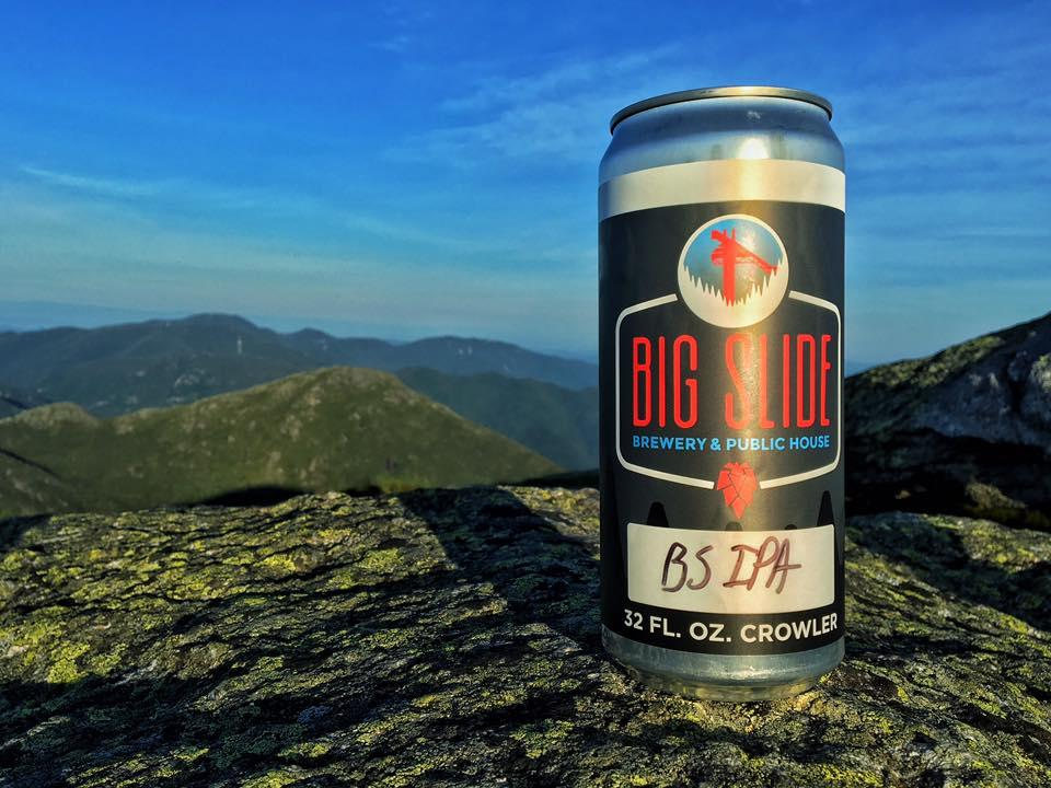 A crowler from Big Slide Brewery rests on top of Mount Marcy - the highest point in New York State! (Photo by Dennis Gallagher)