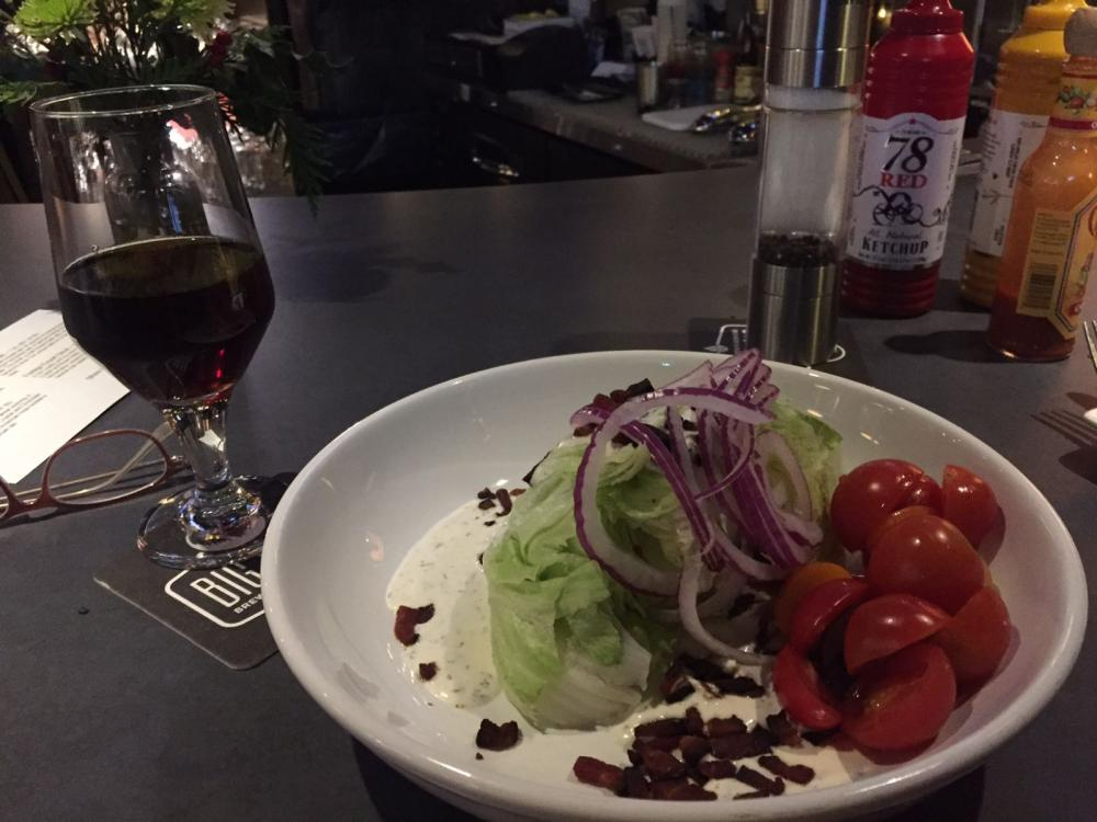 Lettuce wedge salad at Big  Slide