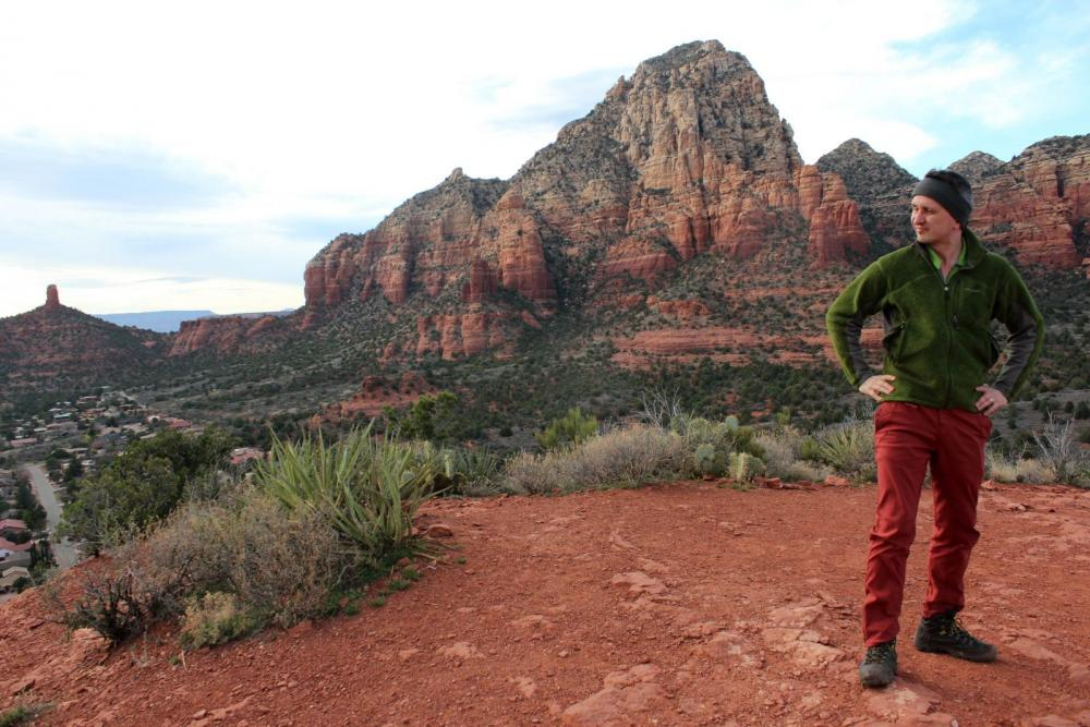 Believe it or not, my neck was very stiff when this photo was taken in Sedona, Arizona.