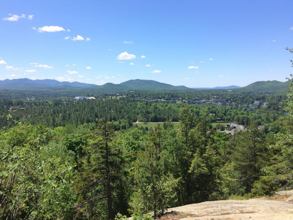 View from Cobble Mountain of Lake Placid and the surrounding wilderness.