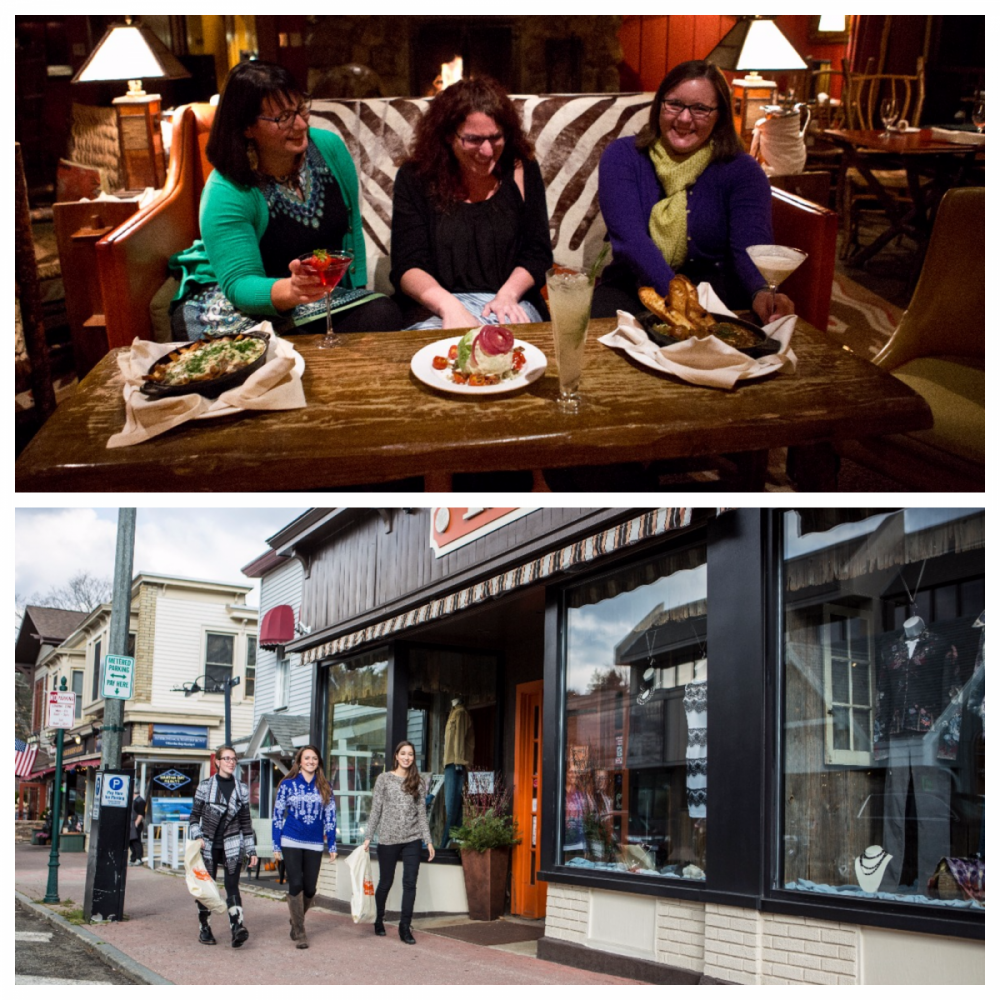 Indulge in unique Adirondack dining, or shop Main Street.
