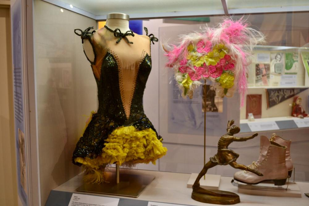 A headpiece Sonja Henie wore while touring with her Hollywood Ice Revue in the 1950s.