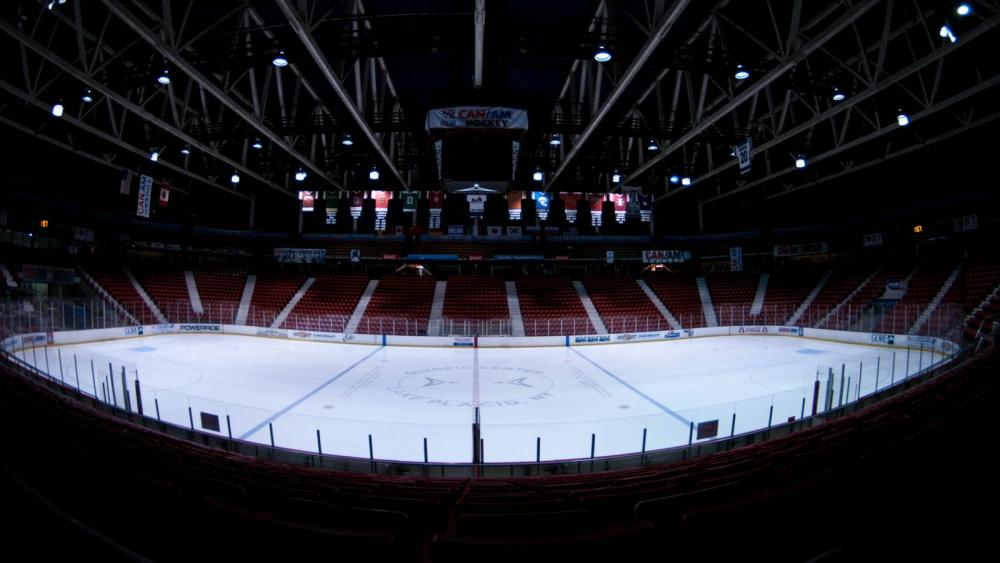 The 1980 Herb Brooks Arena. The new scoreboard is up! This is one of my favorite places to be.