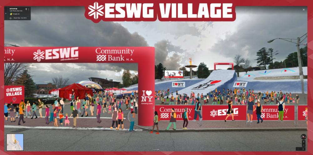 An artist's rendering of the ESWG Village.