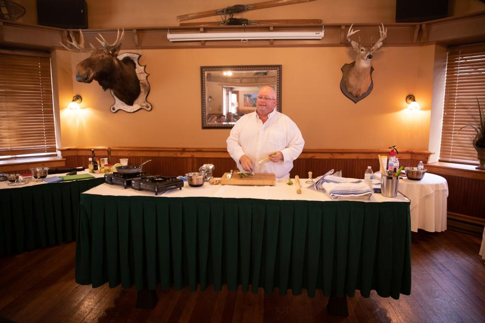 Welcome to Chef Curtiss' domain in the Mirror Lake Inn.
