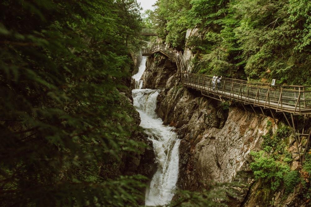 Summer waterfalls at High Falls Gorge.