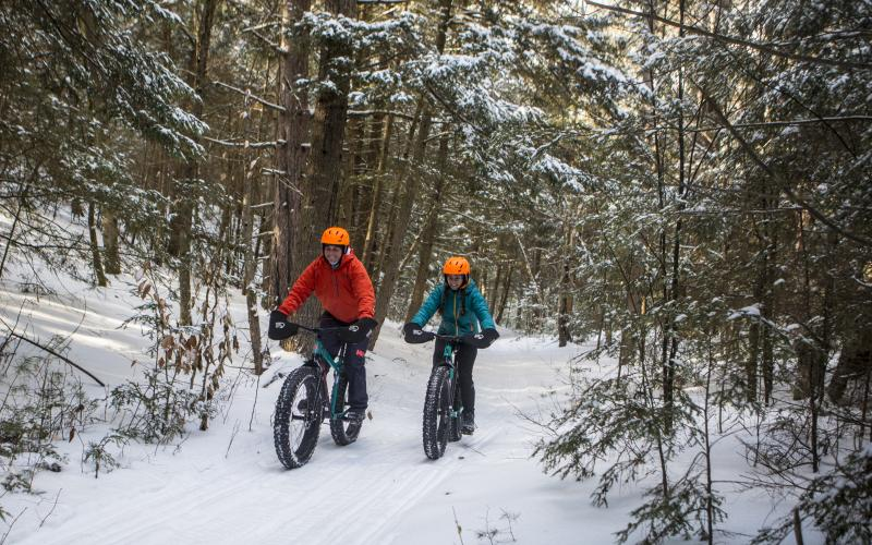 The winter mountain biking is fine and has many levels of difficulty.