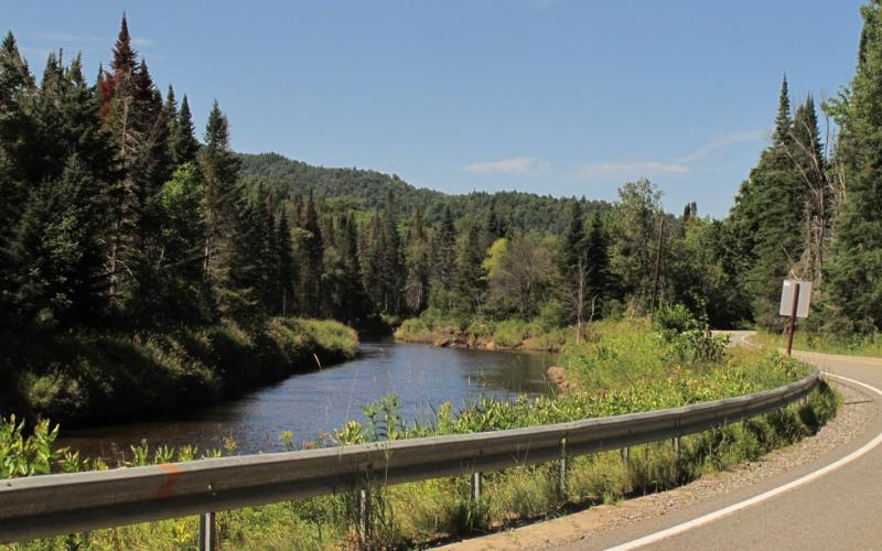 The Ausable River follows much of the route.