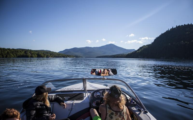 Only one way to get to Echo Bay: by boat.