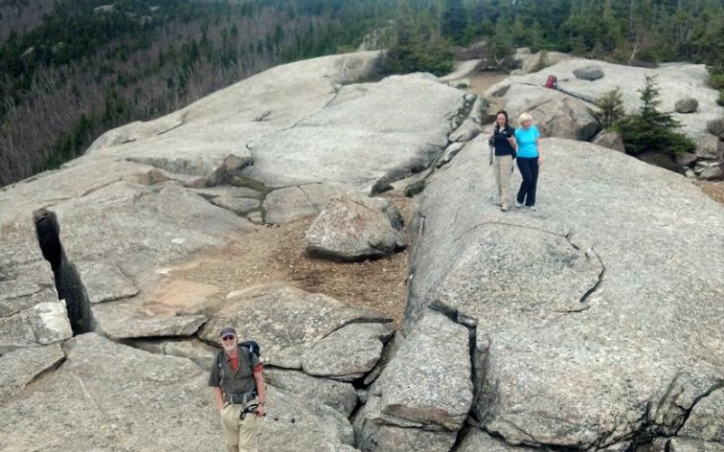 View from above the Balanced Boulders.
