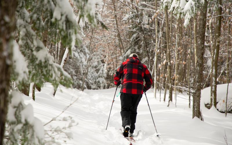 These multi-use trails are available in the winter.