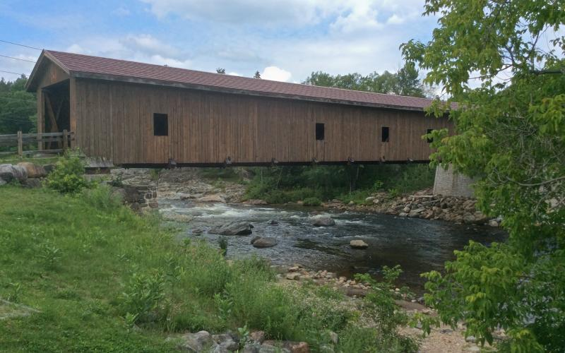 The Jay Covered Bridge is part of a wonderful park.