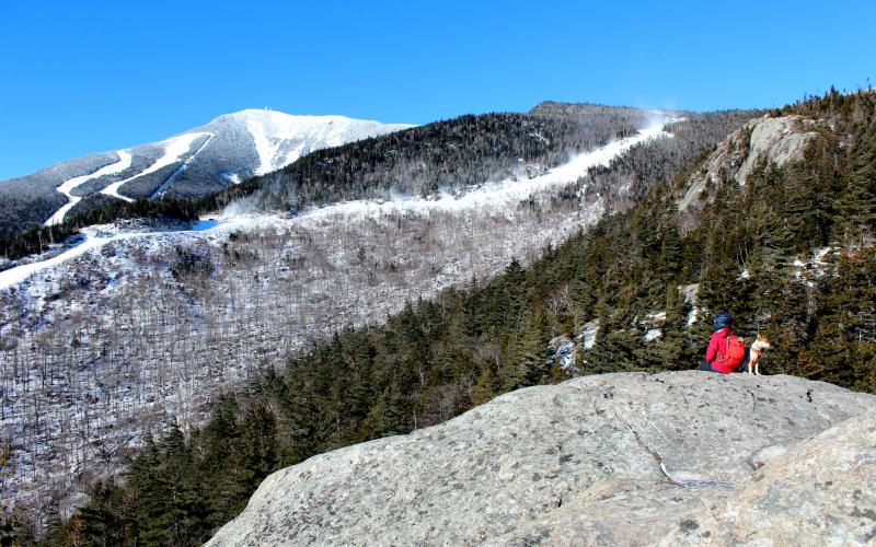 The distinctive profile of Whiteface Mountain seen from the summit of Bears Den.