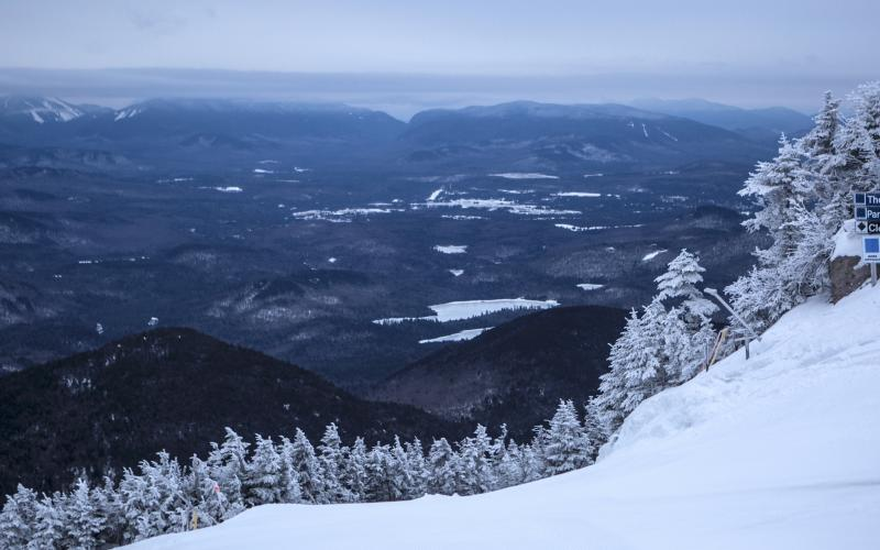 Any time of year, the view from the Whiteface Summit is spectacular.