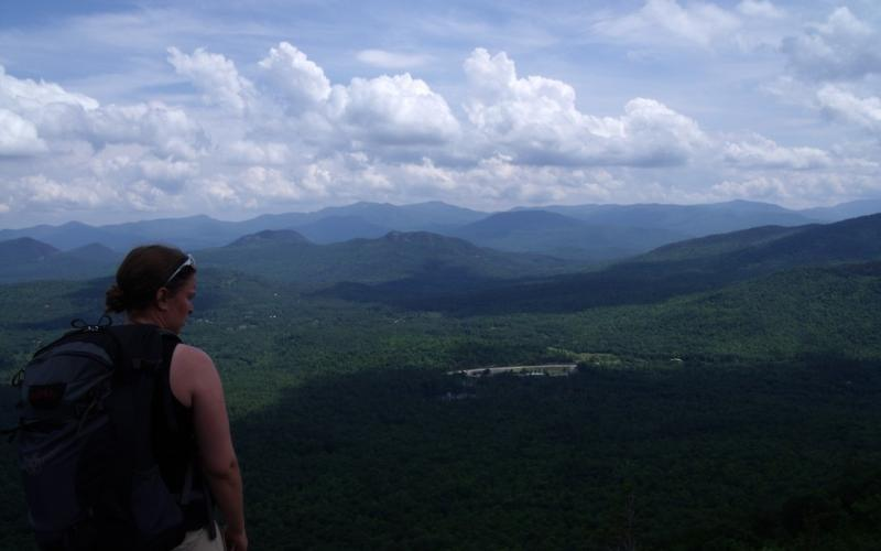 A wonderful view for a short hike on the Flume Knob trail.